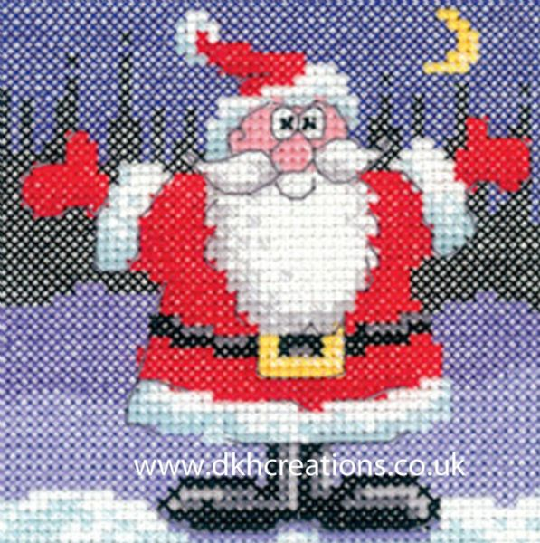 Karen Carter Christmas Santa Greeting Card Cross Stitch Kit